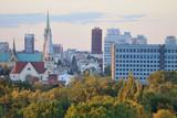 Fototapeta Miasto - Łódź- widok na miasto.