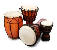 Pueblo Drum And Three Bongo Dr...