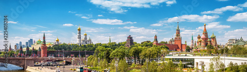 Montage in der Fensternische Blau Beautiful panoramic view of Moscow Kremlin, Russia