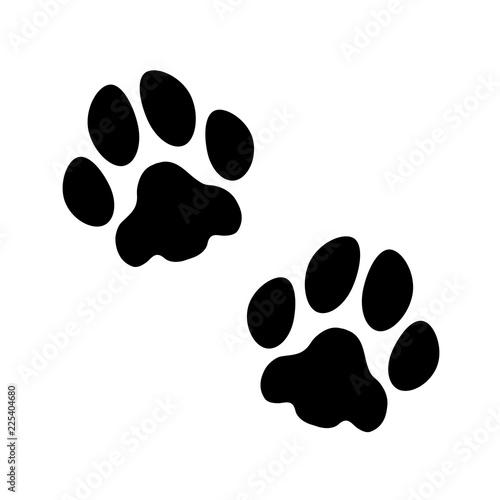 Leinwand Poster Vektor Pfoten Hund/Katze