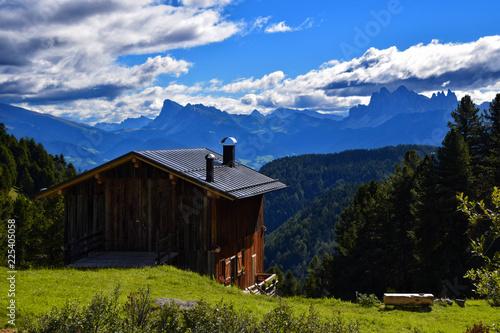 Plakat chatka w Alpach