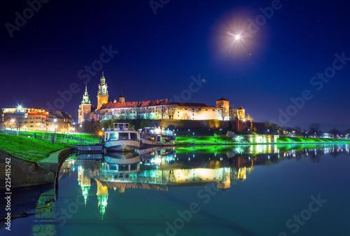 Wawel castle famous landmark in Krakow Poland.