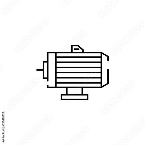 electric motor icon  Element of temperature control