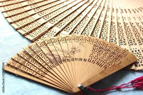 アジア雑貨の扇子 Canvas Print