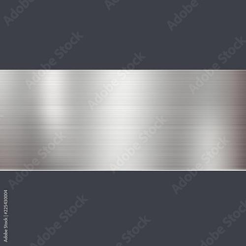 金属 金属テクスチャ メタル ヘアライン フレーム Tablou Canvas