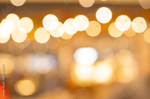 Abstract lights blurred bokeh warm tone color background Slika na platnu