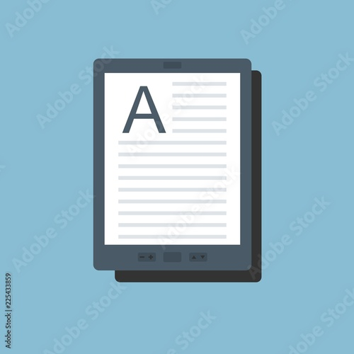 Canvas-taulu E-book vector icon in flat style