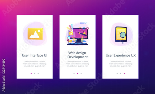 Designers Are Working On The Desing Of Web Page Web Design User Interface Ui And User Experience Ux Content Organization Web Design Development Concept Mobile Ui Ux App Interface Template Buy
