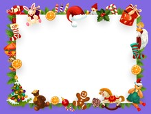 Christmas Greeting Card Blank Frame Decorations