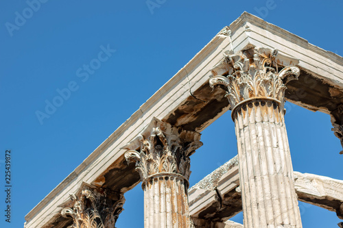 Poster Athene Columns at Temple of Zeus, Athens Greece
