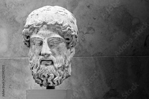 Fotografie, Obraz  Classical ancient Greek sculpture, man's head.