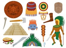 Aztec Vector Mexican Ancient C...