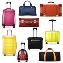 Travel Bag Vector Realistic Lu...