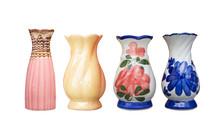 Vintage Ceramic Paint Vase Isolated