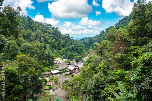 Foto op Canvas Guilin View of the village in the forest at Mae Kam Pong Village , Chiang Mai, Thailand
