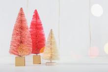 Miniature Christmas Trees On A...