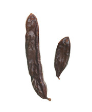 Carob Pods Isolated On White B...
