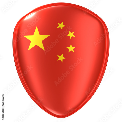 Foto  3d rendering of a China flag icon.