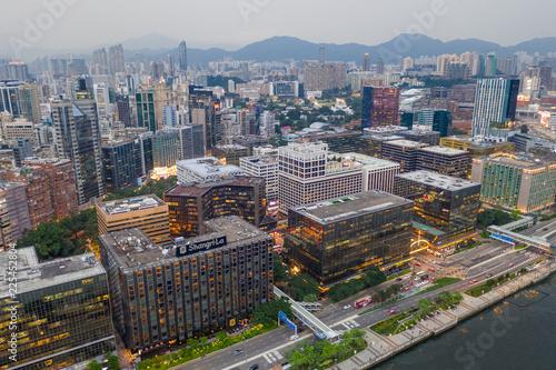 Staande foto Praag Hong Kong downtown