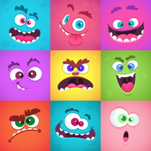 Monsters Emotions. Scary Faces...