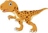 Fototapeta Dinusie - Happy Tyrannosaurus cartoon