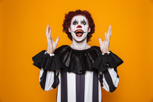 Happy Clown Looking And Raise ...