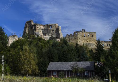 Staande foto Rudnes ruiny zamku