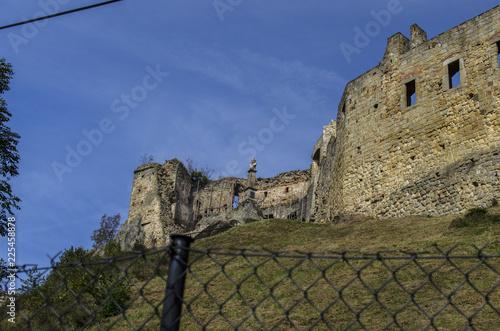Foto op Aluminium Rudnes ruiny zamku