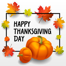 Happy Thanksgiving Day Concept Background. Isometric Illustration Of Happy Thanksgiving Day Vector Concept Background For Web Design