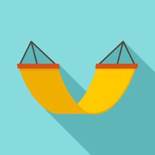 Rest Hammock Icon. Flat Illustration Of Rest Hammock Vector Icon For Web Design