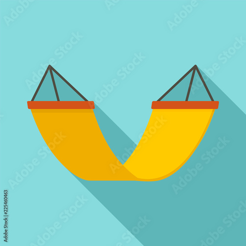 Rest hammock icon. Flat illustration of rest hammock vector icon for web design