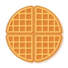 Round Waffle. Vector Illustrat...