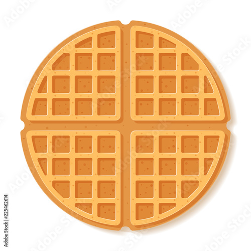 Fotomural Round waffle. Vector illustration.