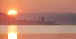 canvas print picture - Sonnenuntergang am Bodensee mit Berlingen