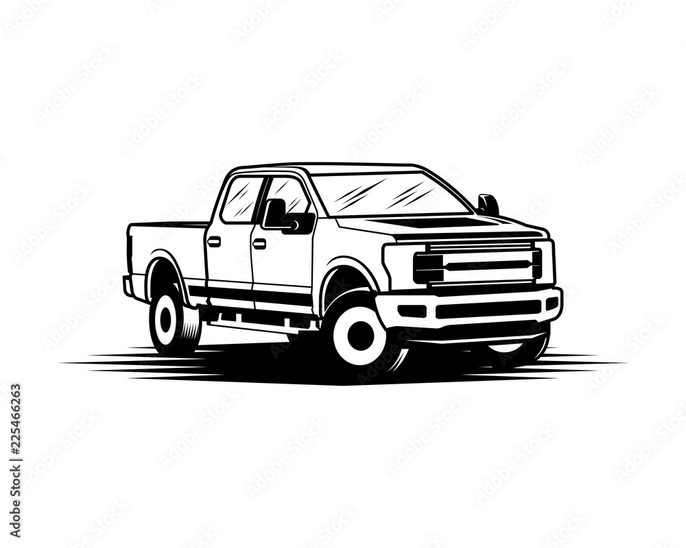 Fototapety, obrazy: Ford F150 Pickup Truck Sign Symbol Logo Vector