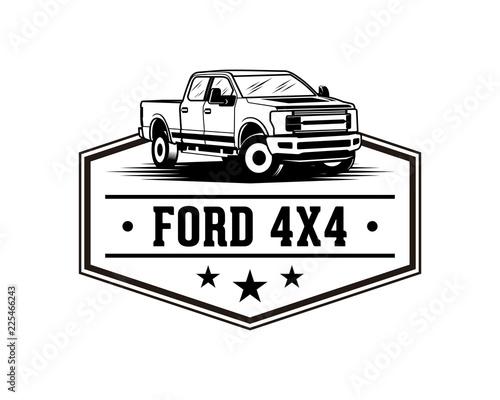 Ford F150 Pickup Truck Sign Symbol Vintage Logo Vector Canvas Print