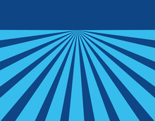 Blue Converging Lines