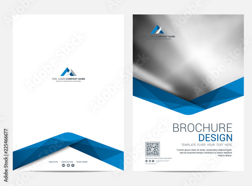 Obraz Brochure template flyer design vector background - fototapety do salonu
