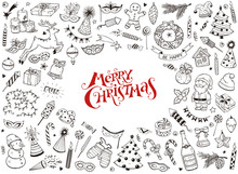 Merry Christmas Design Element...