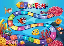 Underwater Fish Board Game Template