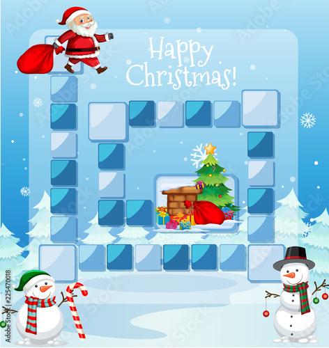 Staande foto Kids Happy christmas game template