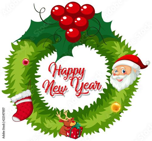 Fotobehang Kids christmas wreath for decoration
