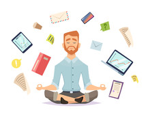 Business Yoga Concept. Office ...