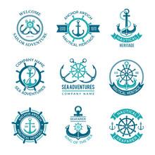 Marine Logo. Nautical Vector E...