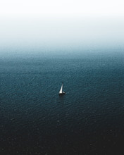 Lonely Yacht In The Black Sea