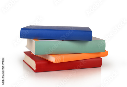 Fototapeta color books stack isolated obraz
