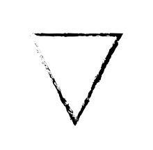 Inverted Triangle Black Outlin...