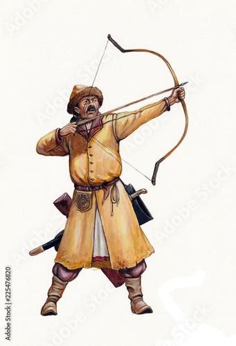 Fotografia Magyar (hungarian) archer at the Battle of Lechfeld