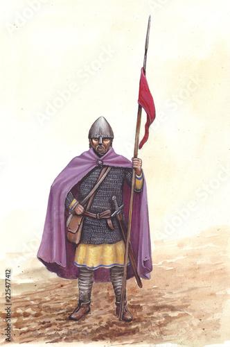 Cuadros en Lienzo Medieval infantry. German (ottonic) knight,  955.