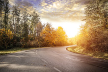 Autumn Road Background And Fre...
